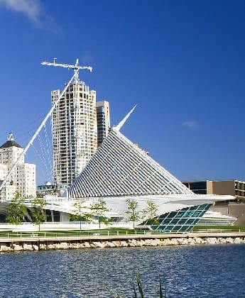 The Milwaukee Art Museum in Wisconsin