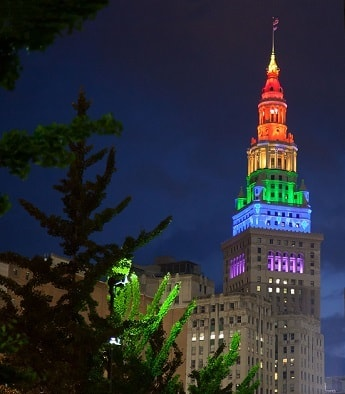 The Terminal Tower in Cleveland, Ohio